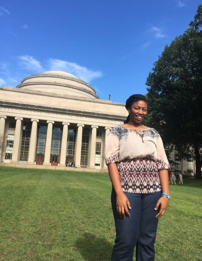 "In October 2017, I had many lifetime firsts in Boston, Massachusetts with the Goodnight Scholars Program. I flew on a plane for the first time, visited THE Massachusetts Institute of Technology and also ate my first ""lobstah"" roll. I also developed long lasting relationships with those inside and outside of my cohort through this shared experience. I cannot wait to go back!"