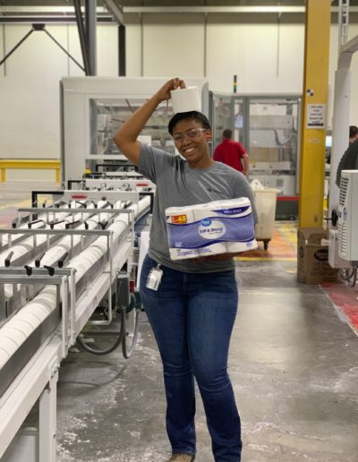 I have been fortunate to intern with a paper company every summer since the start of college, but in May 2019, I began a rather unique internship experience. I got to work for a company that supplies the Great Value Brand bath tissue and paper towels for Walmart! There is no greater feeling than knowing that your work, no matter the extent, has contributed to creating a product that people use everyday.
