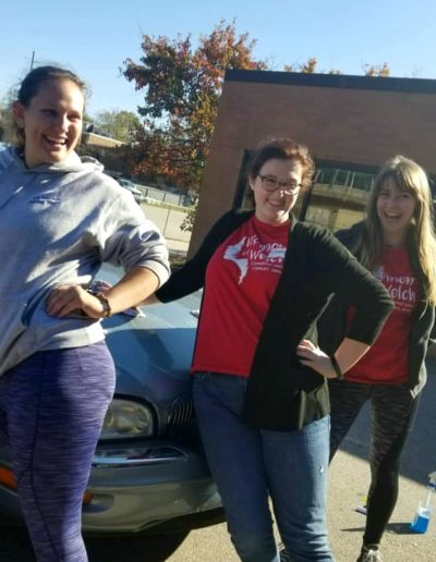 In November 2018, I volunteered at the Haven House with NC State's Women of Welch (WOW). Being in the WOW Village helped me learn more about current events and social justice, and I appreciated all the opportunities we had to volunteer for change! Here I am with Hannah Cooper and Carson Smith.