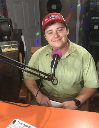 "In June 2019, I started the bi-weekly radio program known as ""Community Corner"" on the local Brevard radio station, WSQL. As a Cooperative Extension outreach program, it was my responsibility to provide advice and gardening tips/tasks for the relevant week. This was a fantastic opportunity to make connections in my community and address homeowner's biggest concerns in an active manner."