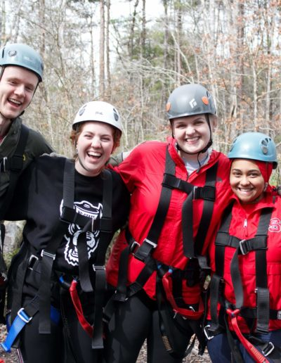 In March 2019, I co-led the North Carolina: Mountains to Coast service break trip. Co-leading was an interesting challenge by choice, but brought forth so many new characteristics and leadership abilities I never knew I possessed. On this trip, I decided that I would try something new each day. For example, I am terrified of heights but thanks to the support of my team I was able to face it by ziplining for the first time in Marion, NC!