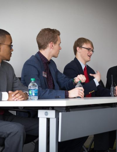 In March 2019, I took part in a panel on life at NC State for Finalist Interview Day. On this panel with Kaleb Lee '21, Parker Savage '20 and Loulou Batta '21, I got to take questions from finalists, share what I've learned as a student and give them advice on their transition to college.
