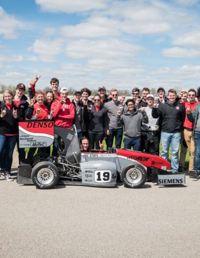 In May 2019, I competed as a member of the Wolfpack Motorsports Formula Team at the Formula SAE Michigan Competition at the Michigan International Speedway in Brooklyn. We competed against teams from all over the world, including Germany and Brazil, with our student-designed and student-built formula race car.