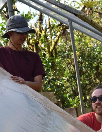 In March 2019, Thanks to Goodnight Scholars Program and NC State Leadership and Civic Engagement, I had an opportunity to serve on an Alternative Service Break trip to Trinidad & Tobago. In this trip, I worked with fellow scholars like Randy Bazhaw '19 to build a roof for cocoa seeds drying trays, teach elementary children about the importance of conservation, and to construct bird observation post on top of rain-forest hill with Asa Wright Nature Center.