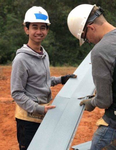 In October 2018, I helped build an affordable house for the Habitat for Humanity in South Raleigh as a part of Goodnight Scholars community service. It was cold and muddy, but I had a lot of fun working with fellow scholars like Preston Gourville '20.