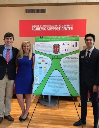 In April 2019, I presented a poster as a part of GSP 251 First-Year Seminar. I worked with fellow Goodnight Scholars Christopher Daly '22, Emory New '22, Sebastian Williams '22 and Autumn Biggie '22 to design a solution for an issue on our campus. In the class, I learned how to build a resume, how to do a presentation and how to effectively collaborate in a team environment.