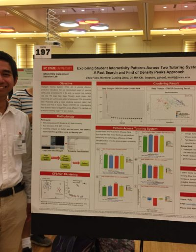 In August 2019, I attended NC State Undergraduate Symposium to present my summer research. I worked with Dr. Min Chi in the Center for Educational Informatics Lab at NCSU. In Dr. Chi's lab, I learned how to use data science  and artificial intelligence to improve personalized education.